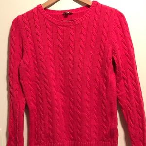 Talbots Size Petite Medium Cable Knit Sweater